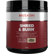 Shred and Burn Vanilla 340g Musashi