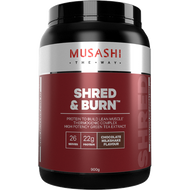 Shred and Burn Protein Chocolate 900g Musashi