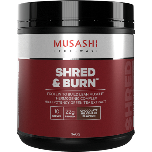 Shred and Burn Protein Chocolate 340g Musashi