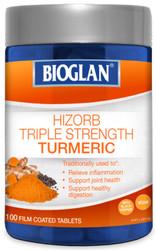 Hi-Zorb Triple Strength Turmeric 100 Tablets x 3 Pack Bioglan