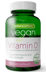Vegan Vitamin D 60 Caps x 3 Pack Naturopathica
