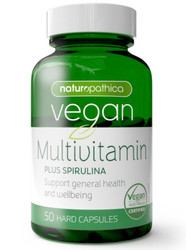 Vegan MultiVitamin Plus Spirulina 50 Caps x 3 Pack Naturopathica
