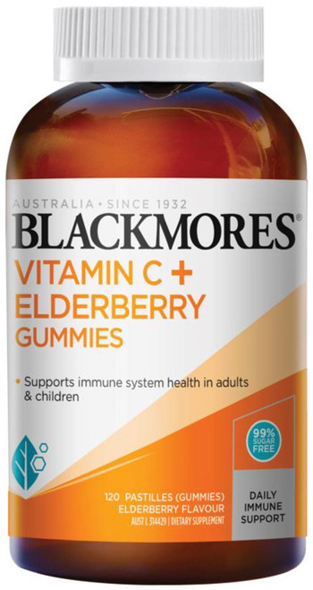 Vitamin C + Elderberry 120 Gummies Blackmores