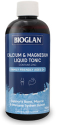 Calcium & Magnesium Liquid Tonic 250mL x 3 Pack Bioglan
