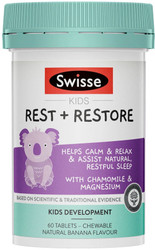 Kids Rest + Restore 60 Chewable Tabs Swisse