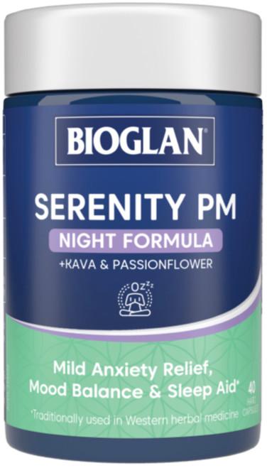 Serenity PM Night Formula 40 Caps x 3 Pack Bioglan