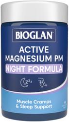 Active Magnesium PM Night Formula 60 Tabs x 3 Pack Bioglan