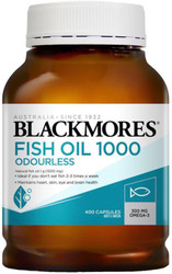 Fish Oil 1000mg Odourless 400 caps Blackmores