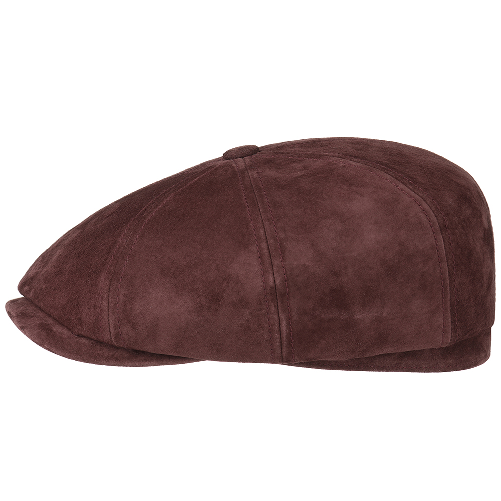 0a8e534bd2b7dd Details about Stetson Burgundy Wine Leather Peaky Blinders Gatsby Hatteras  8 Panel Cap