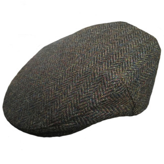149a882a565 Failsworth Stornoway Harris Tweed Flat Cap - Brown Green