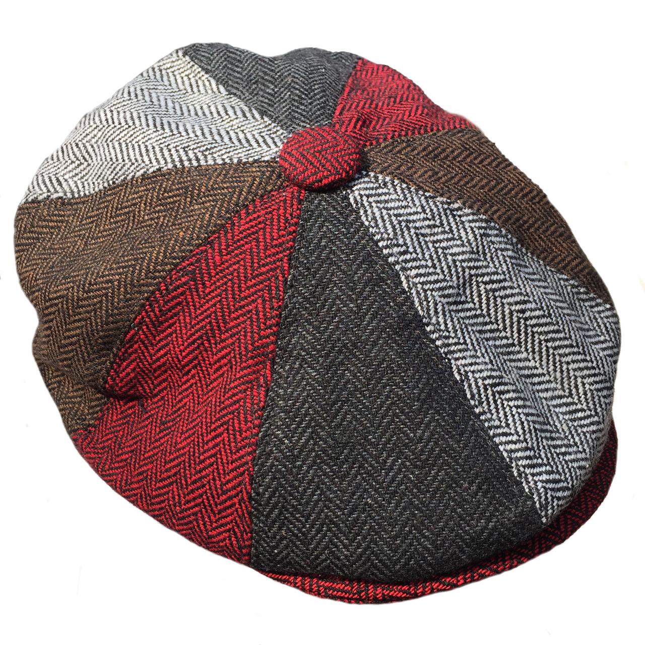 ORIGINAL G   H Multicoloured Patchwork Herringbone Newsboy Cap  2493c408fb4