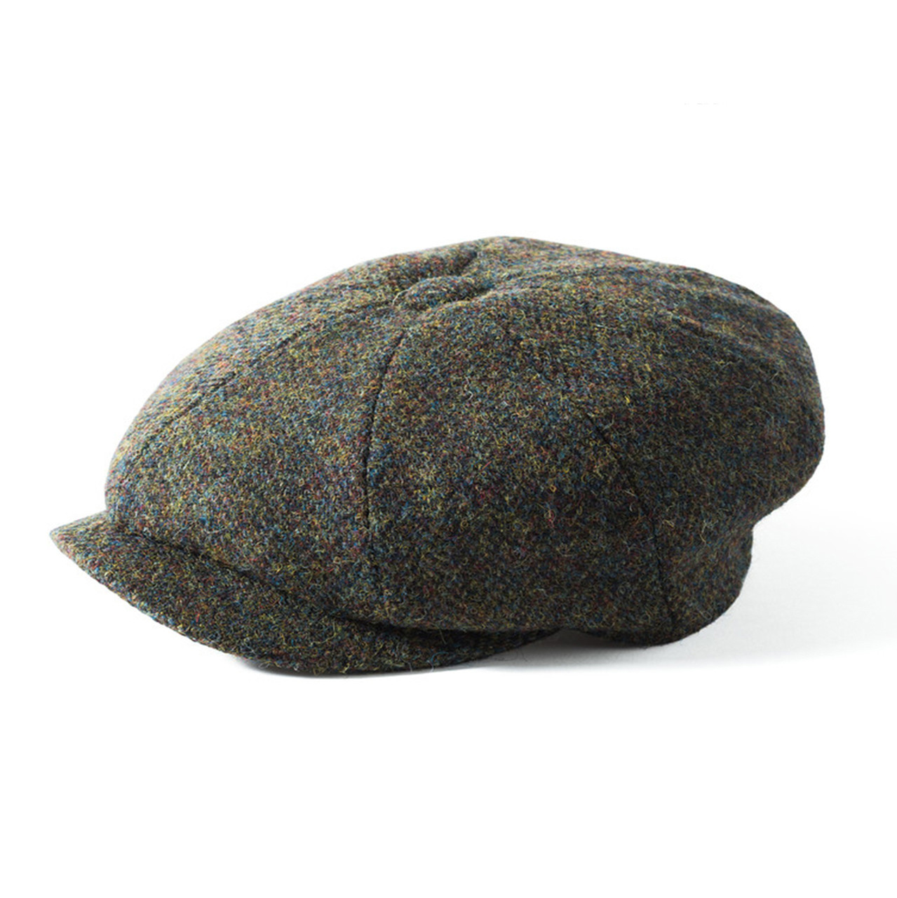 d2ac31b9312506 Failsworth Carloway Harris Tweed Newsboy Cap - Green/Brown. Price: £32.95.  Image 1