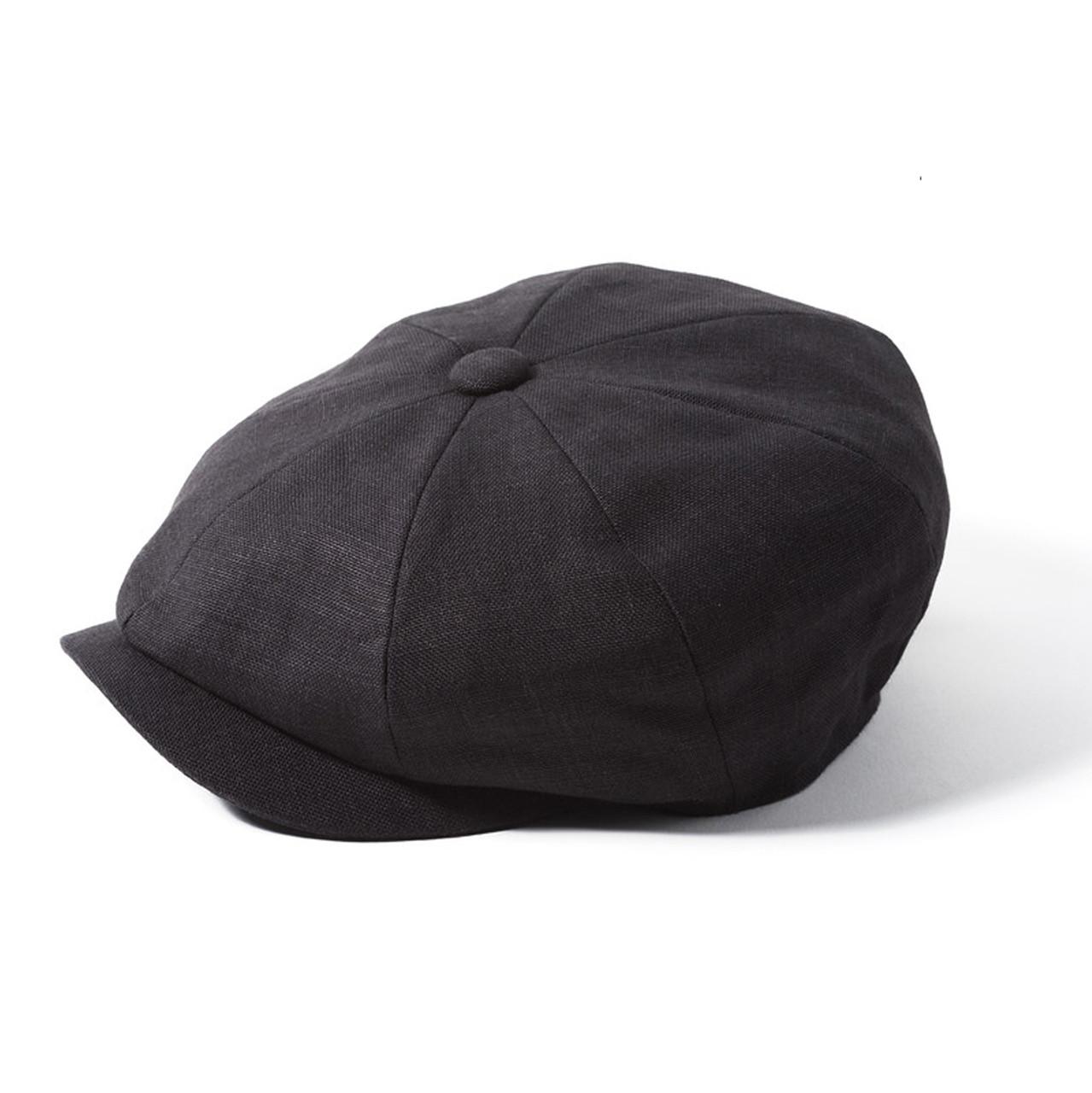 G/&H Dark-Grey 100/% Wool Flat Cap Herringbone Tweed Flat Cap Harris