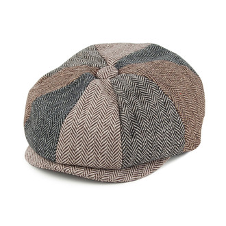 Jaxon   James Baby Herringbone Patch Newsboy Cap - Multicoloured 8bb832506095