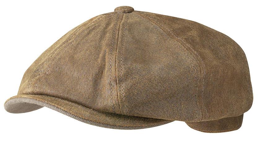 93a9470ff3e36 Stetson Brown Burney Pig Skin 8 Panel Newsboy Cap Hat