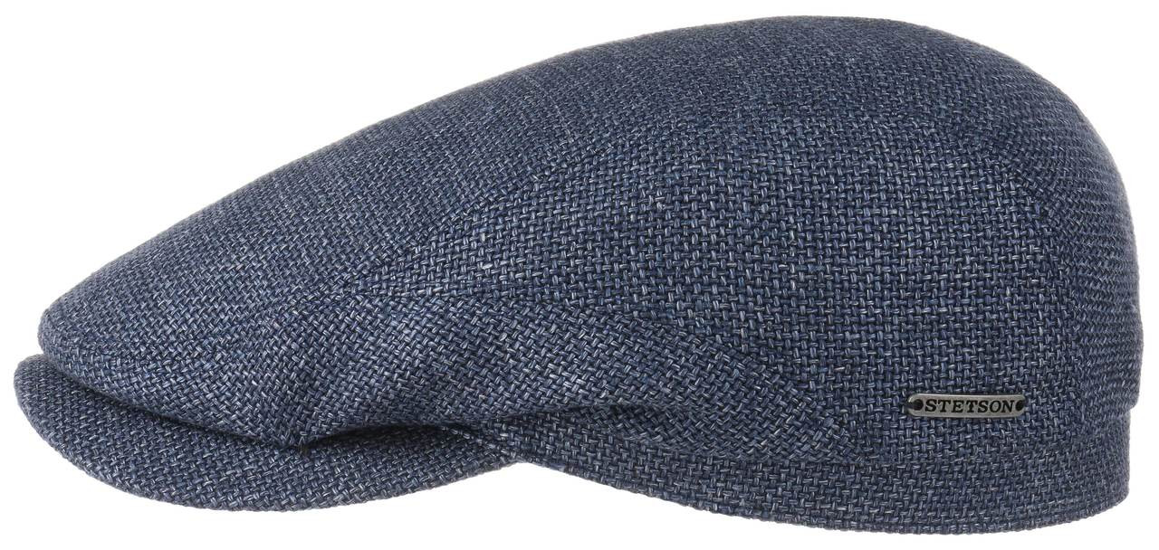 ORIGINAL Stetson Blue Virgin Wool Linen Flat Cap  f3cd1b408bb