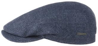 8e8c42e1ffe96 Stetson Mottled Blue Virgin Wool   Linen Traditional Summer Driver Flat Cap  Hat