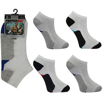 c335fc91cf6a49 Men's Performax Trainer Socks Summer Sports Gym Wear Triple Pack 2 color  bottom