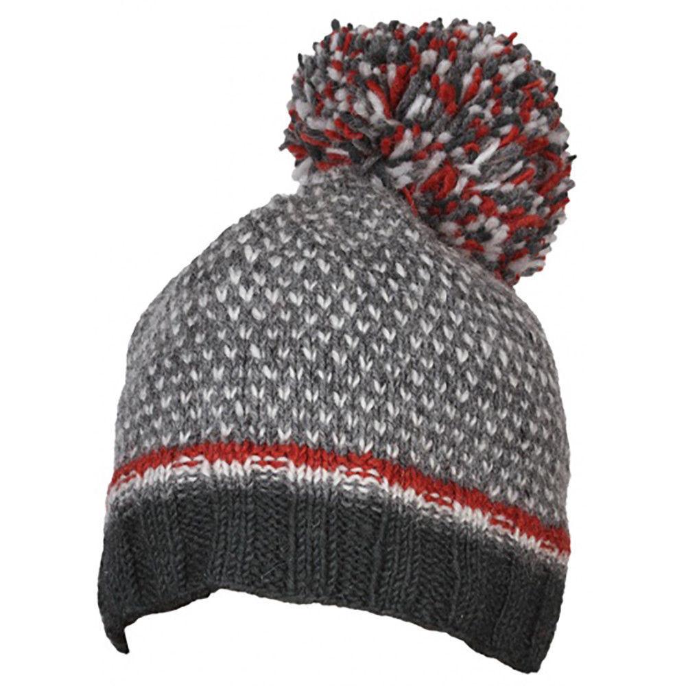 Pachamama Navy Tromso Bobble 100/% Wool Hand Made in Nepal Winter Beanie Hat