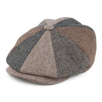 Jaxon   James Herringbone Patch newsboy Cap - Multi-coloured 526a1634d29e