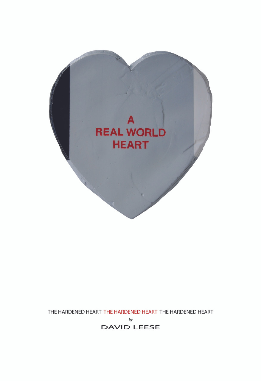 A Real World Heart on White (various sizes)