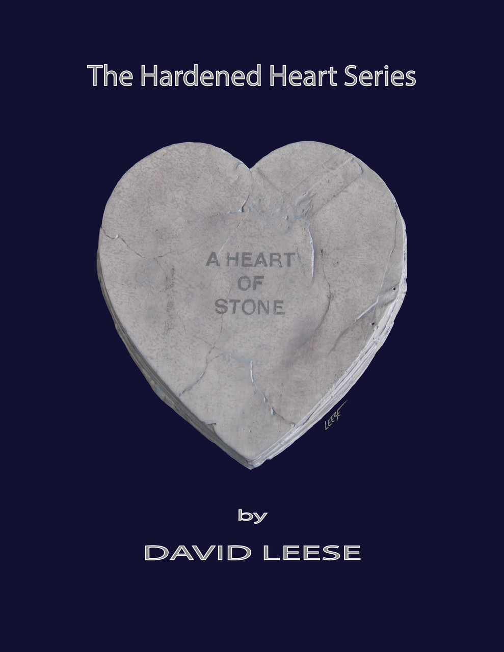 A Heart of Stone on Navy (various sizes)