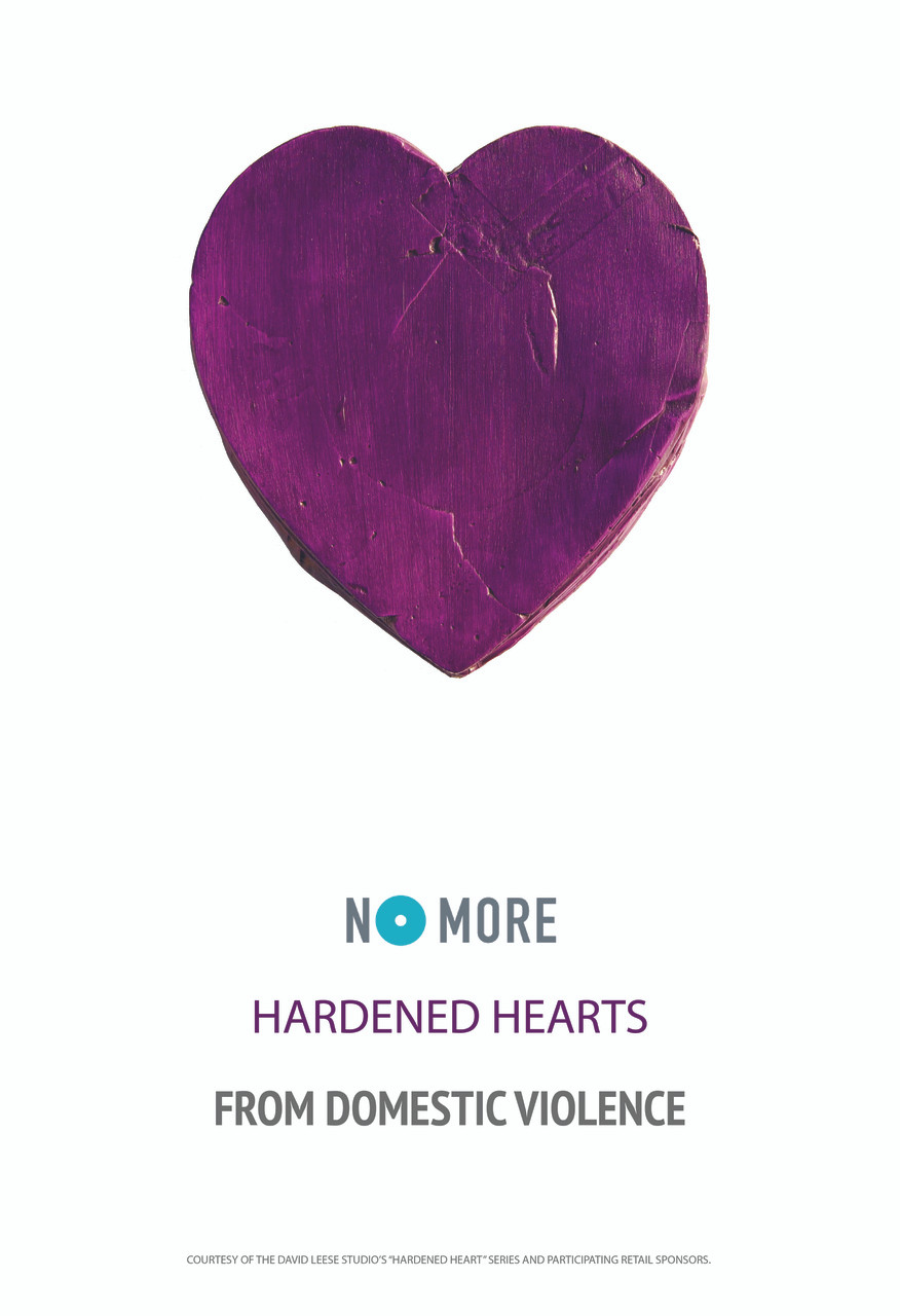 NO MORE Hardened Hearts from Domestic Violence Poster
