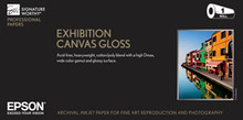 """Exhibition Natural Canvas Gloss 17"""" x 40' Roll S045411"""