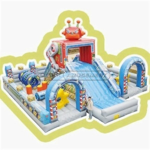 Robot Themed Inflatable Fun City Indoor Playground Amusement Equipment