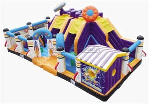 Space Theme Inflatable Fun City Amusement Equipment