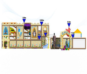 Castle Themed Indoor Playground System | Cheer Amusement 20121220-026-H-3