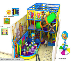 Bread and Wind Mill Themed Indoor Playground System | Cheer Amusement 20140210-003-S-10
