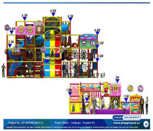 Candy World Themed Indoor PlaygroundSystem | Cheer Amusement 20140708-020-C-5