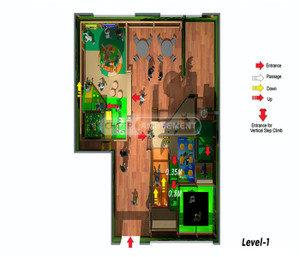 Jungle Themed Indoor Playground System   Cheer Amusement 20141118-T020-S-1