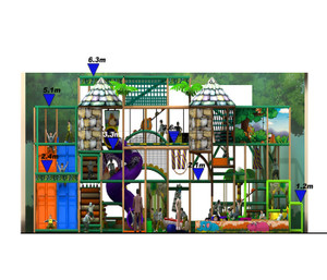 Jungle Themed Indoor Playground System   Cheer Amusement 20141128-T003-S-2