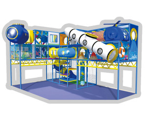 Underwater Themed Indoor Playground System   Cheer Amusement CH-RS110045