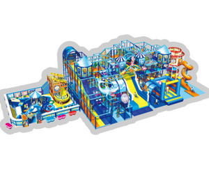 Underwater Themed Indoor Playground System   Cheer Amusement CH-RS130022