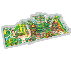 Jungle Adventure Themed Indoor Playground System | Cheer Amusement CH-RS130002