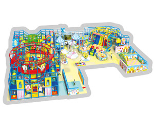 Fun Town Themed Indoor Playground System | Cheer Amusement CH-RS130013