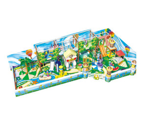 Cartoon Village Themed Toddler Play Indoor Playground System | Cheer Amusemen CH-RS130015t