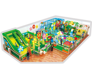 Cartoon Village Themed Toddler Play Indoor Playground System | Cheer Amusemen CH-RS130018t