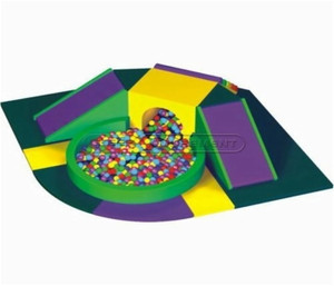 Slide and Ball Pit Small Unit Indoor Playground System | Cheer Amusement CH-SQC110009