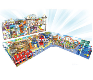Future City Themed Indoor Playground System | Cheer Amusement CH-RS150008