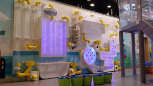 Plumbing System Ball Play Wall in Yas Mall UAE | Large Attractions