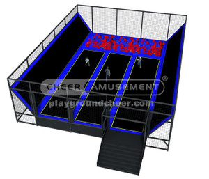 Trampoline Park  Equipment   Model# Big trampoline park 3 CH-ST150011