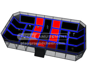 Trampoline Park Equipment Model# Big trampoline park 5 CH-ST150016