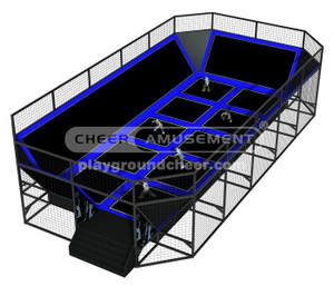 Trampoline Park Equipment Model# Big trampoline park 8 CH-ST150017