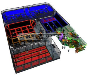 Indoor Playgorund  Equipment Trampoline Park Equipment Model# Big trampoline park 13  CH-ST150010