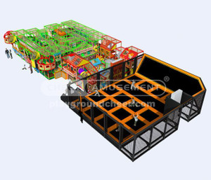 Indoor Playground Equipment  Trampoline Park Equipment Model# Big trampoline park 14 CH-ST150023