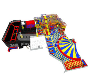 Indoor Playground Equipment  Trampoline Park Equipment Model# Big trampoline park 15 CH-ST150014